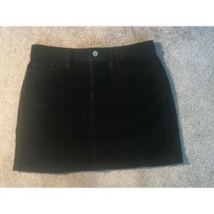 womens gap jeans black mini skirt size 6